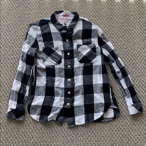 Levi's plaid shirt size xs